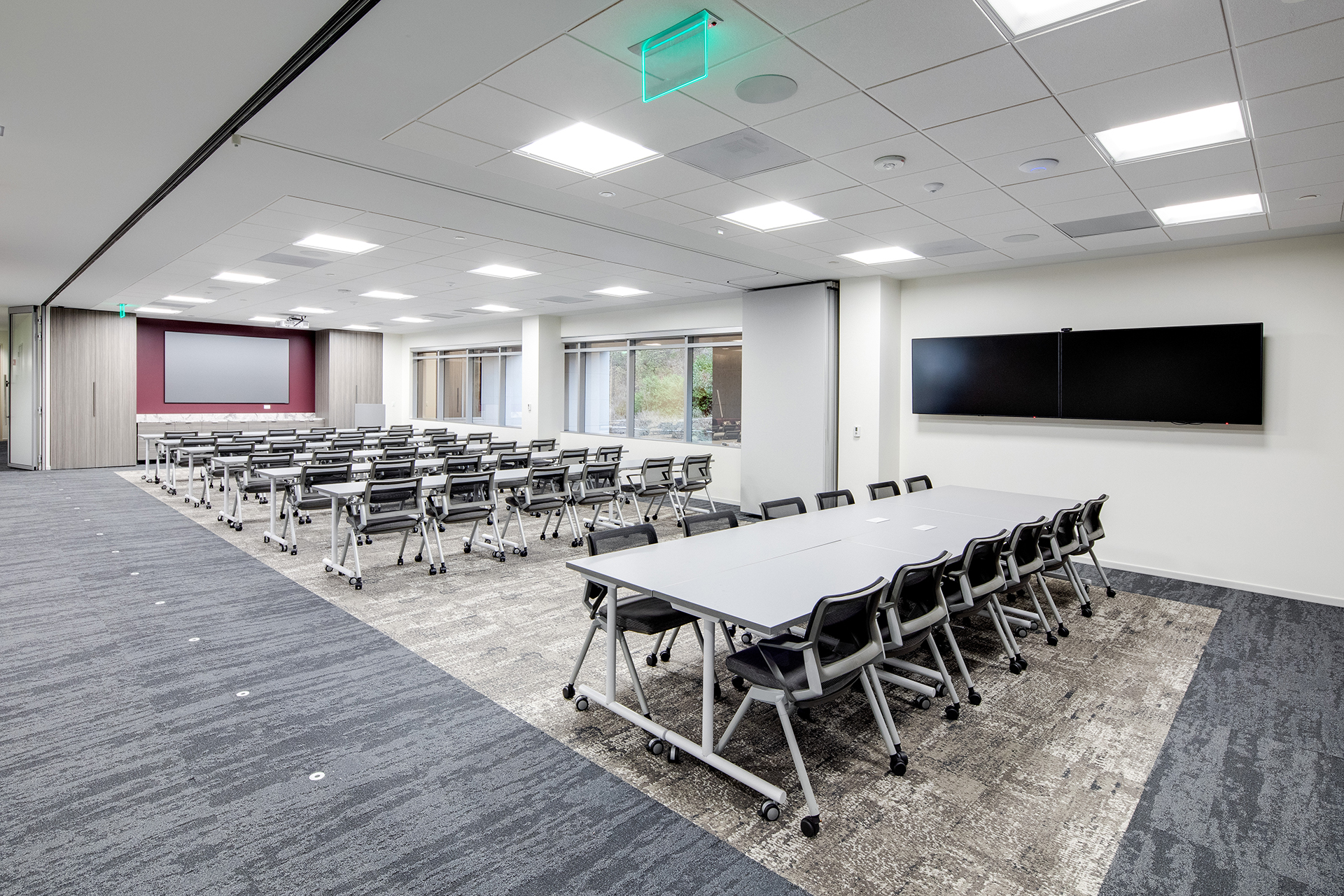 American Assets Trust expandable conference and training area | AVI Systems