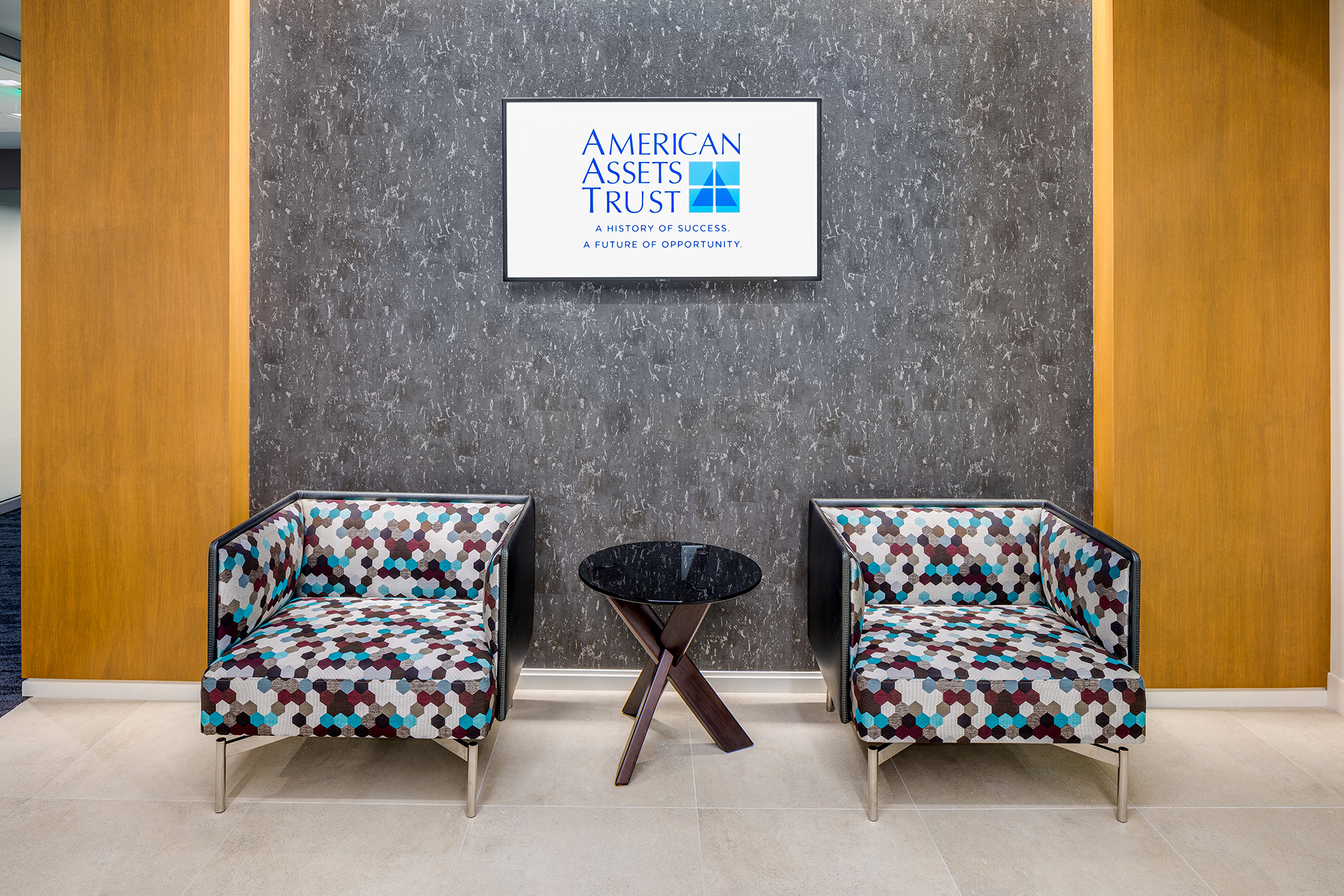 American Assets Trust entry way | AVI Systems