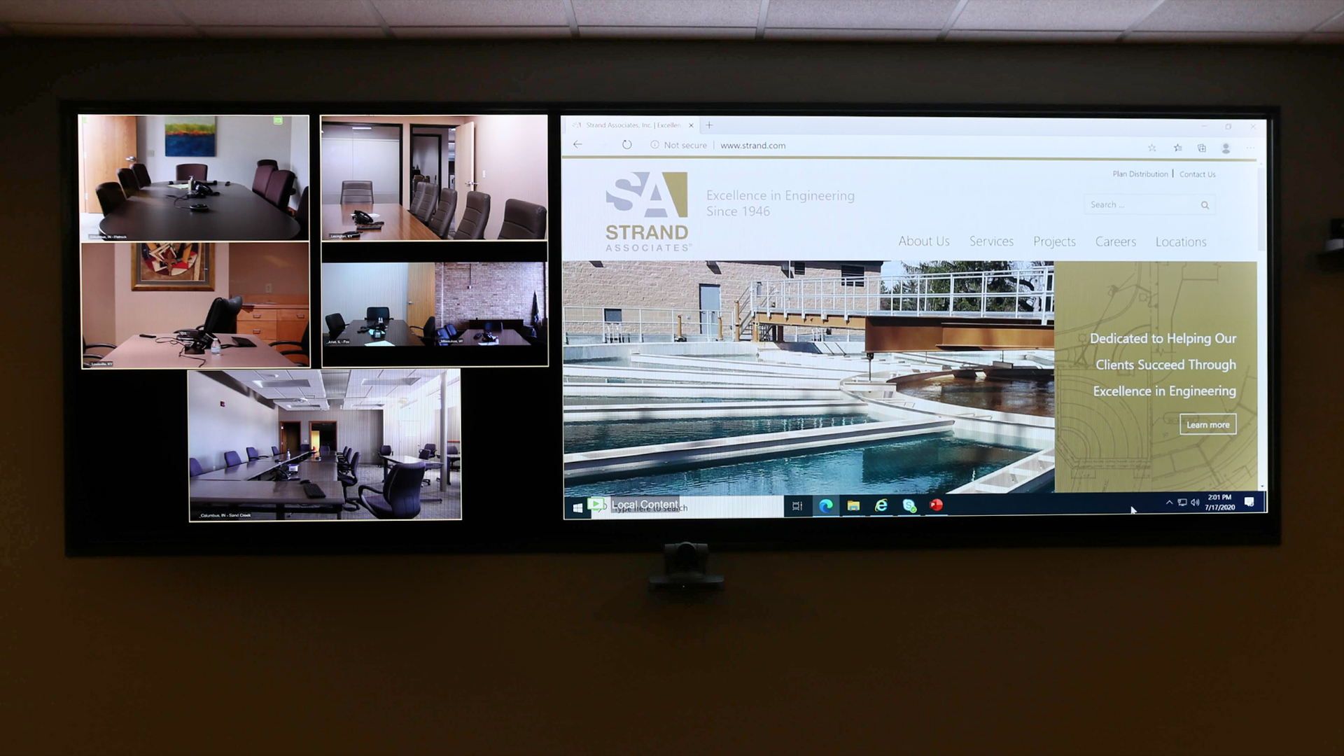 Strand Associates_Conference Room Video Wall 2