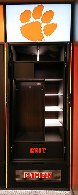 Clemson locker