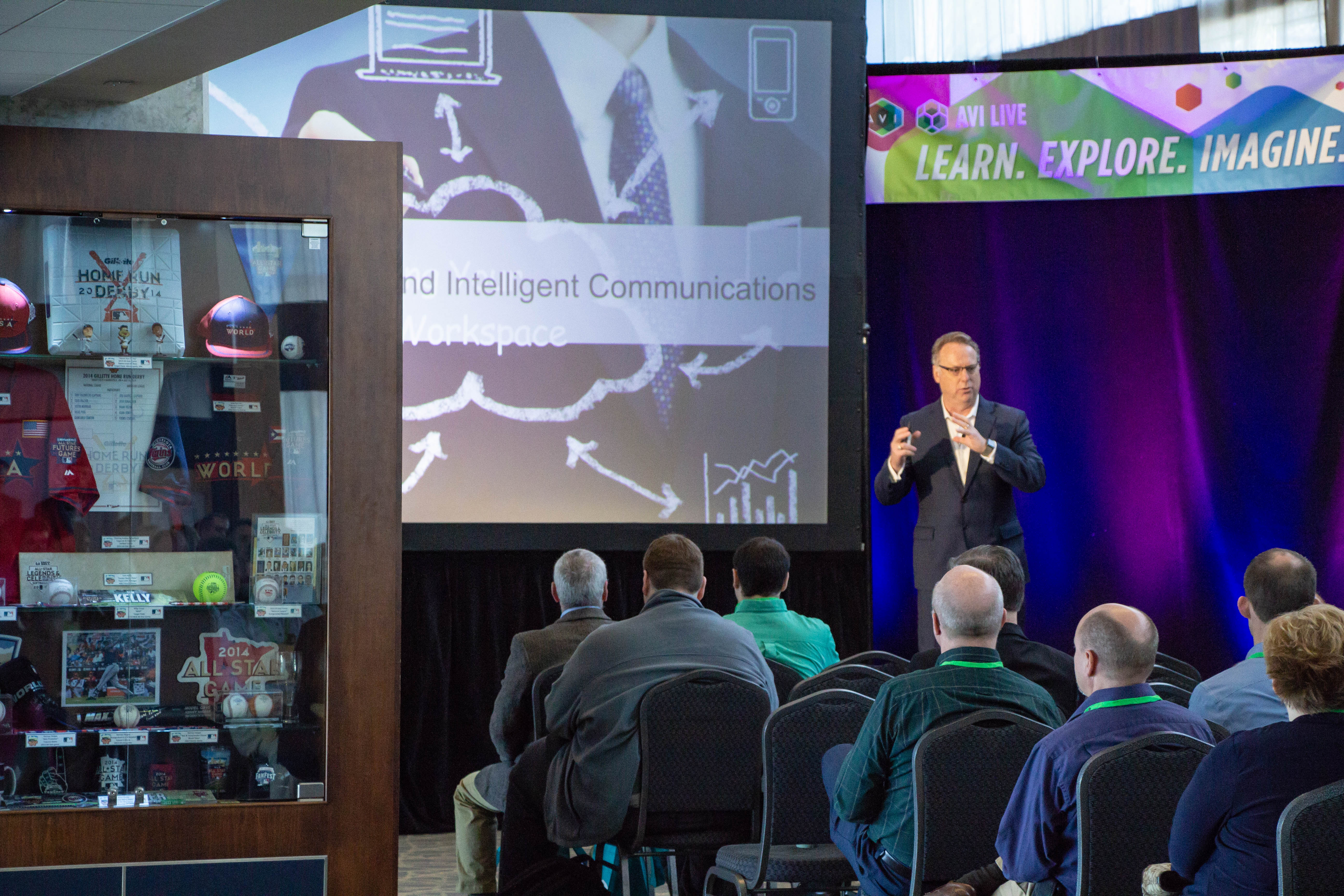 CTO Brad Sousa gives his keynote speech at AVI LIVE in Minneapolis on Wednesday. | AVI Systems