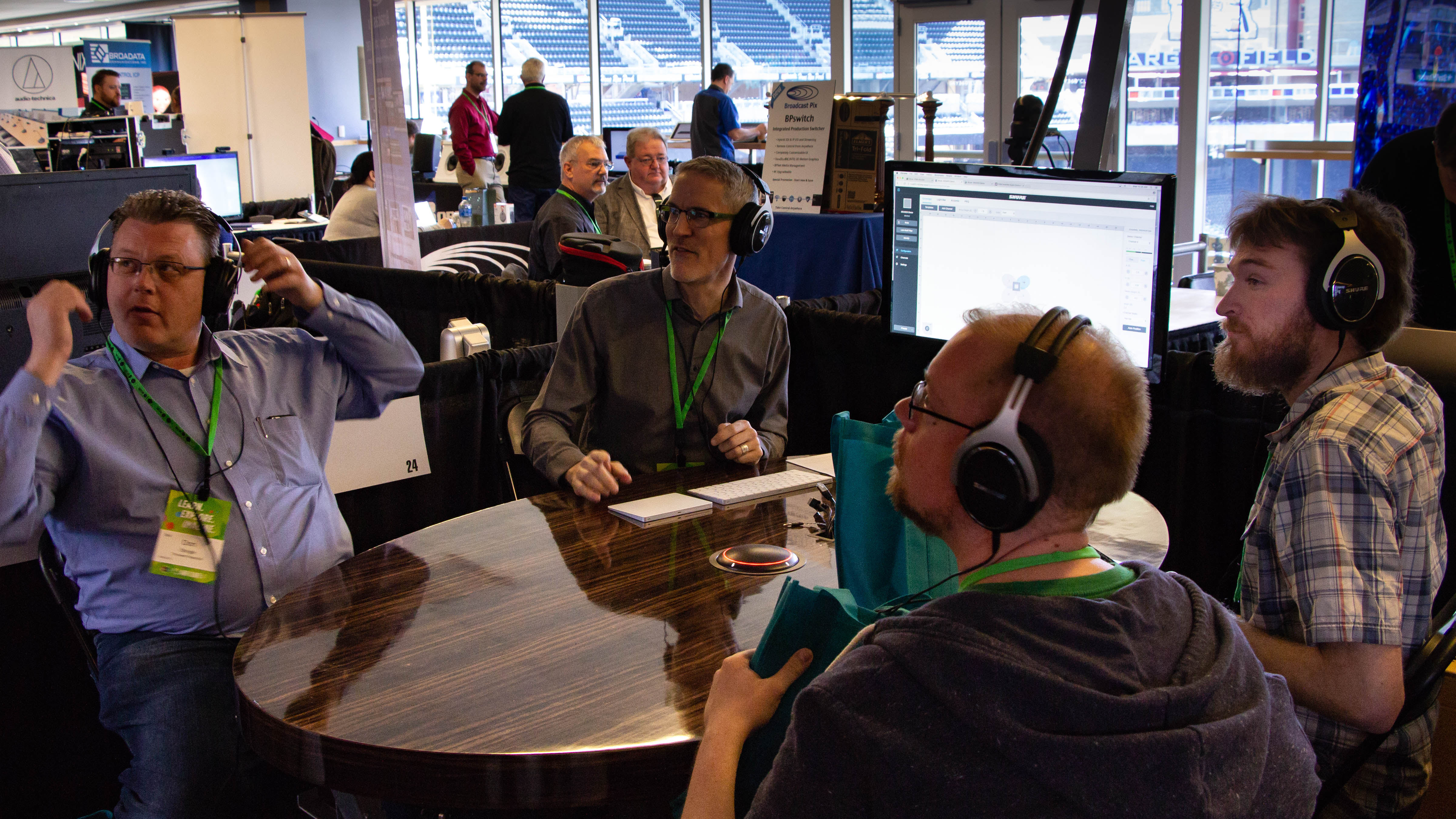AVI LIVE attendees join Shure's audio demonstration on Wednesday at Target Field. | AVI Systems