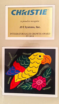 Integrator Sales Growth Award FY 2018 | AVI Systems