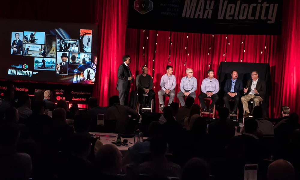 Don Mastro led a panel discussion with AVI Systems sales staff, who have undertaken notable projects for the company.