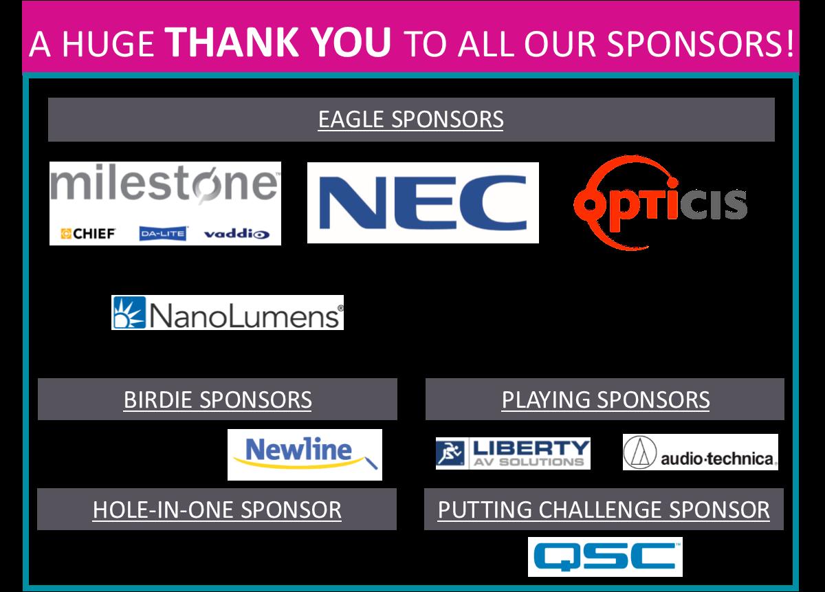 IGNITE Golf Tournament Sponsors (2017)