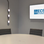 Huddle room, equipped with video conferencing technology