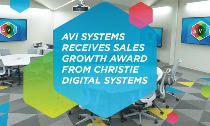 Christie Presents 'Integrator Sales Growth Award' to AVI Systems